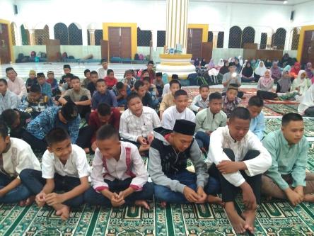SMP Negeri 10 Lahat - MABIT Wada' Kls 9 Masjid Darussalam Selawi