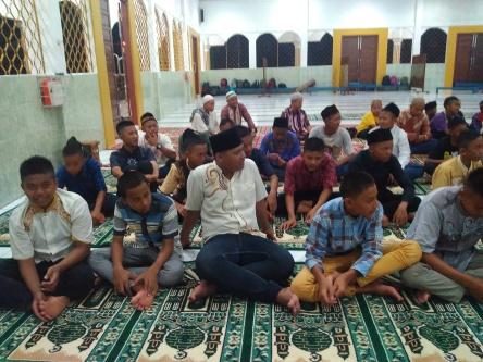 SMP Negeri 10 Lahat - MABIT Wada' Kls 9 di Masjid Darussalam Selawi